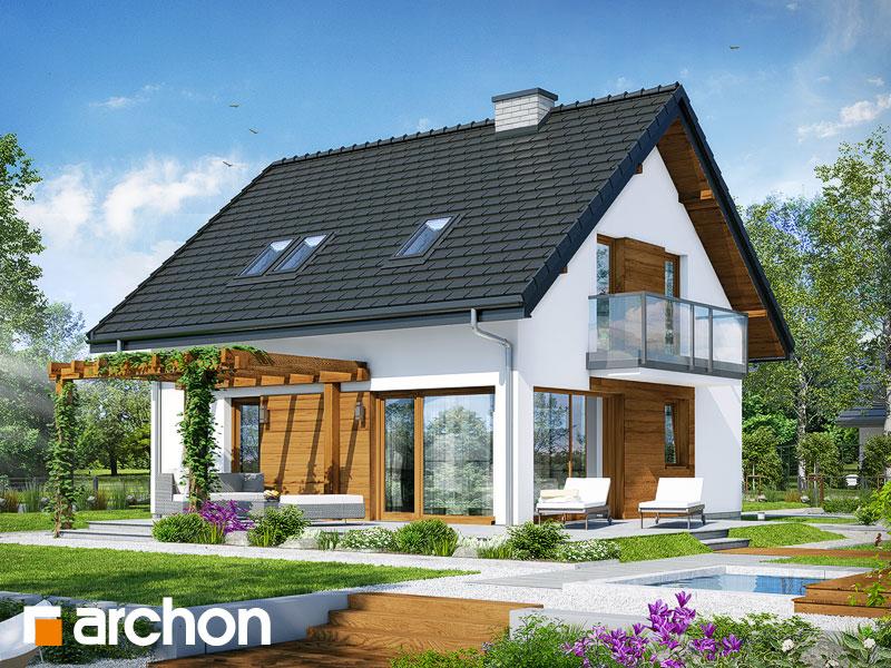 Проект дома ARCHON+ Дом в бруснике 4 - Визуализация 2