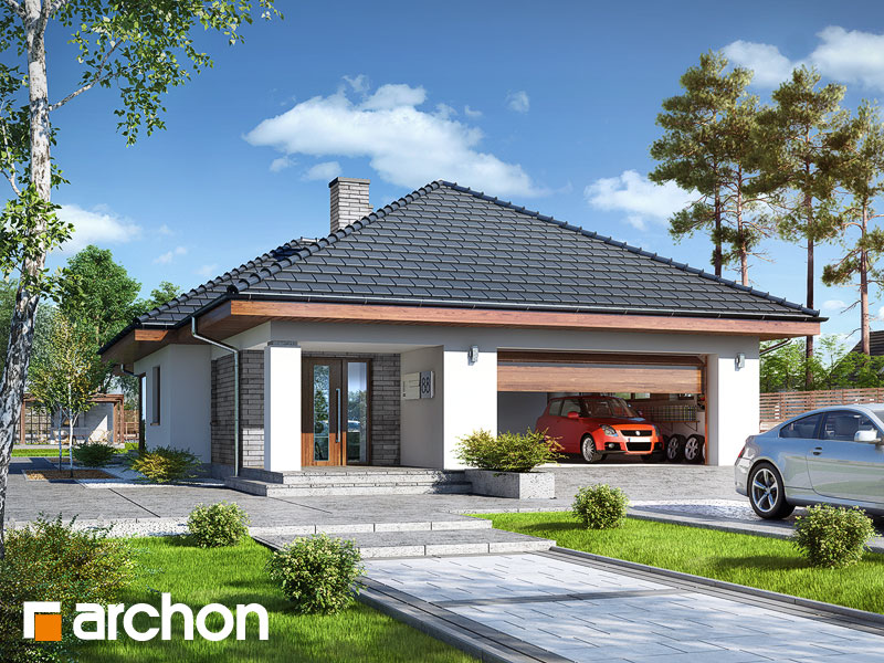 Проект дома ARCHON+ Дом в андромедах (Г2) - Визуализация 1