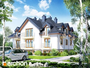 Проект дома ARCHON+ Дом у бульвара ver.2