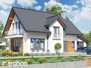 Проект дома ARCHON+ Дом в солодках (Г) ver.2