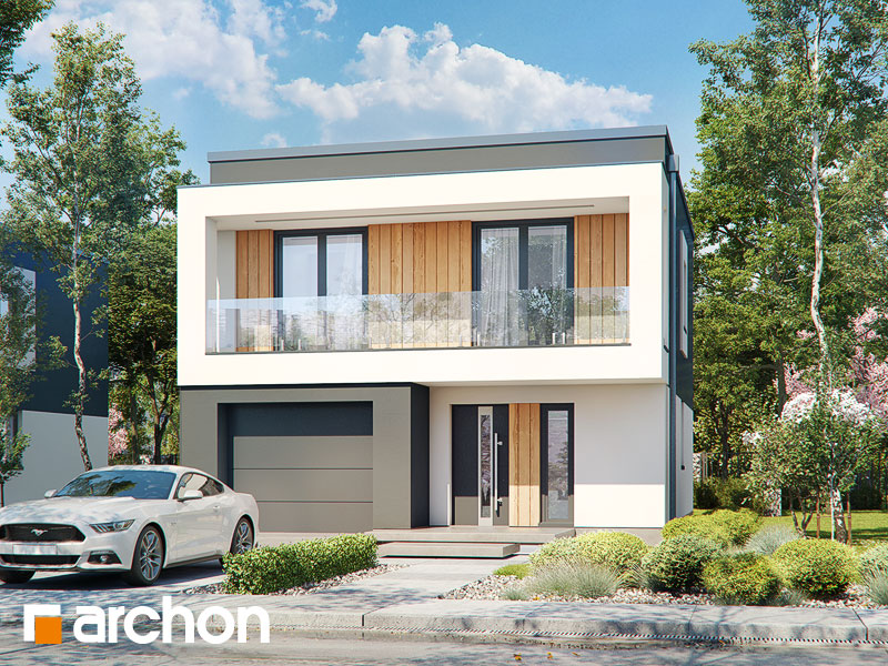 Проект дома ARCHON+ Дом в клематисах 24 - Визуализация 1