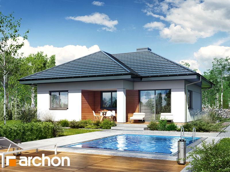 Проект дома ARCHON+ Дом в коштелях - Визуализация 1