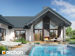 Проект дома ARCHON+ Дом в кливиях 6 (Г2)