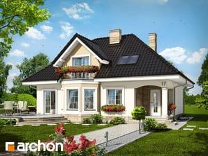 Проект дома ARCHON+ Дом в авокадо ver.2