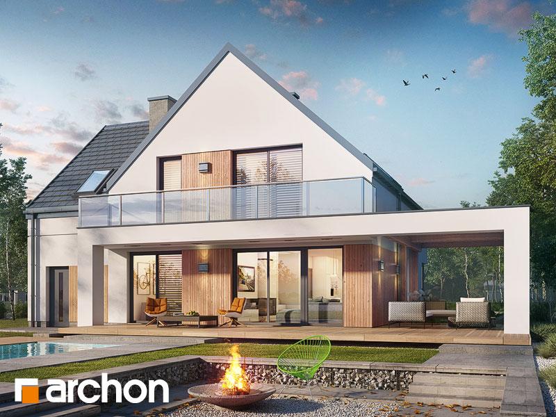 Проект дома ARCHON+ Дом в аморфах - Визуализация 1