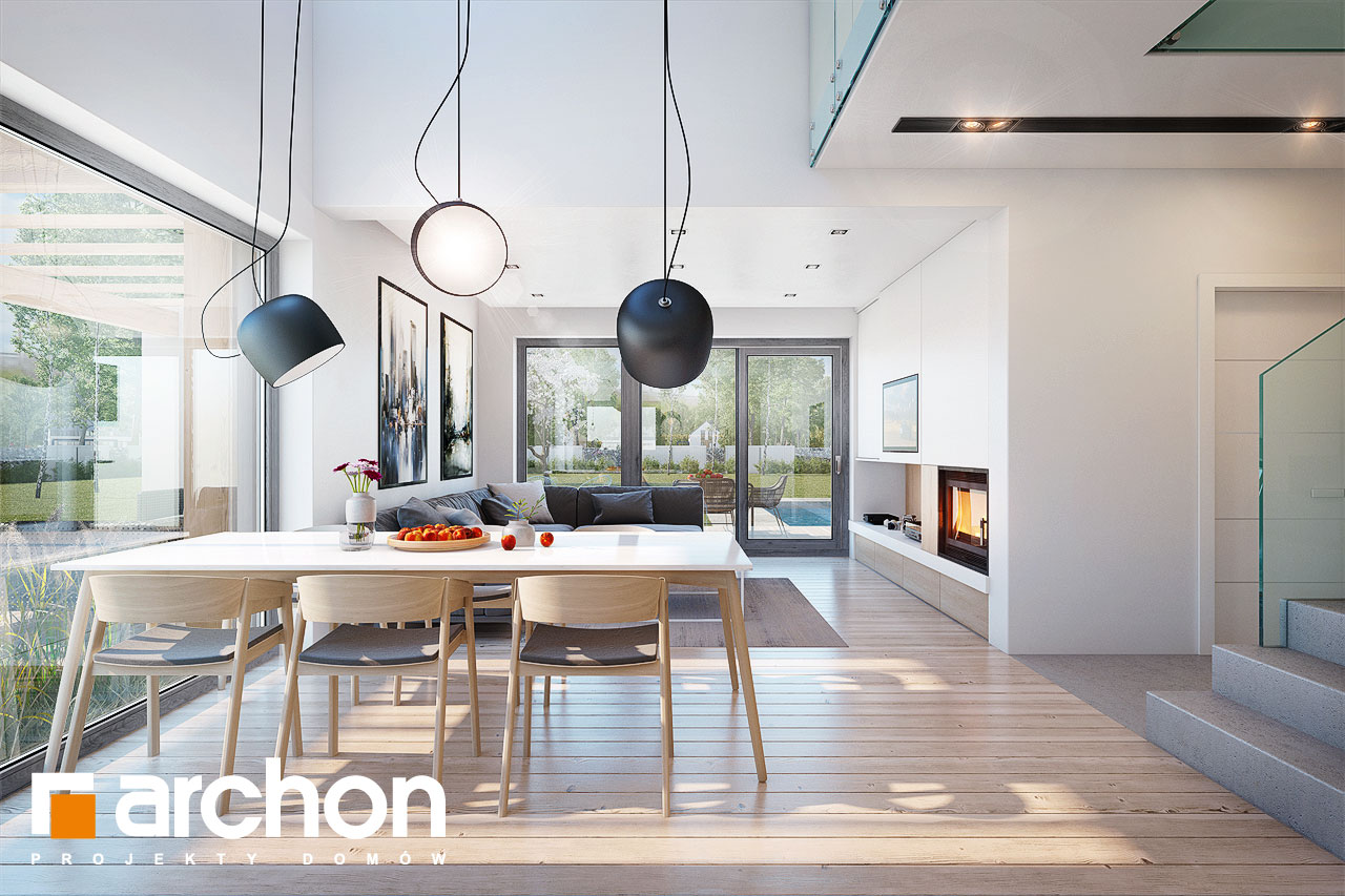 Проект дома ARCHON+ Дом в аморфах - Интерьеры