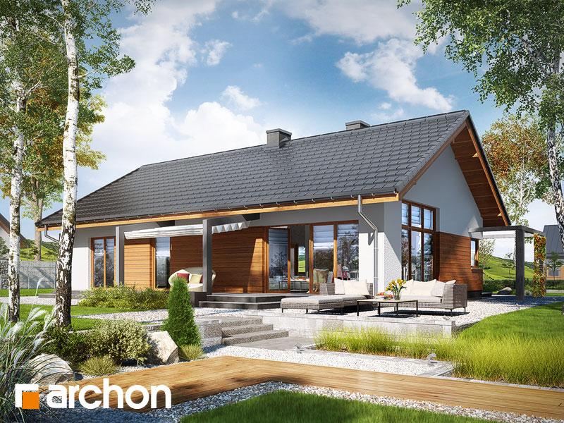 Проект дома ARCHON+ Дом в мекинтошах (ВП) - Визуализация 1