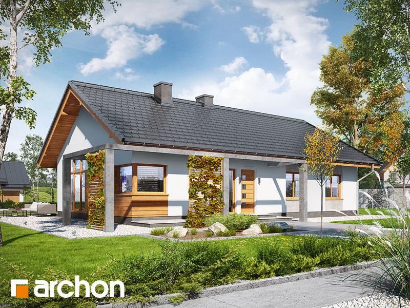 Проект дома ARCHON+ Дом в мекинтошах (ВП) - Визуализация 2