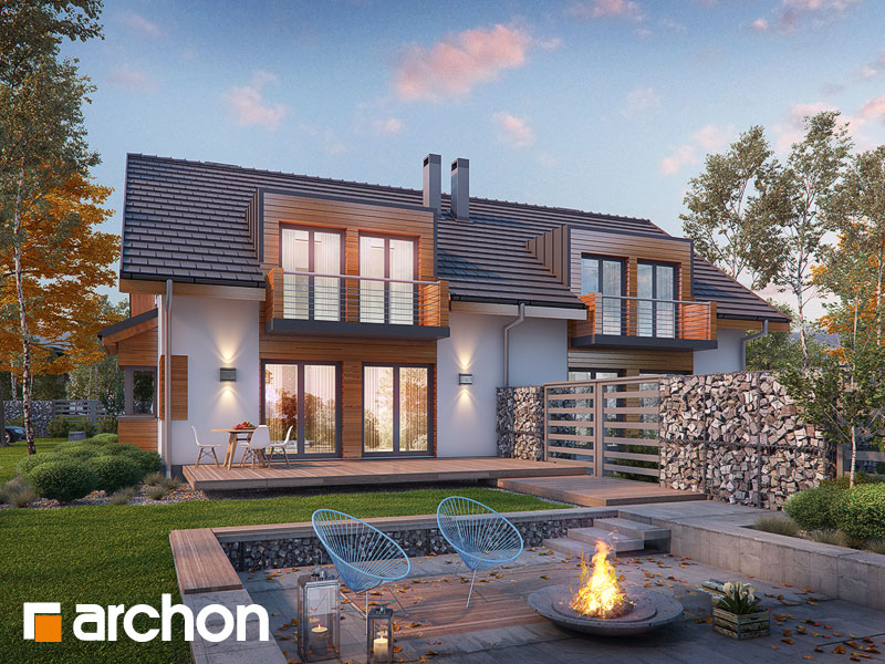 Проект дома ARCHON+ Дом в клематисах 8 - Визуализация 1