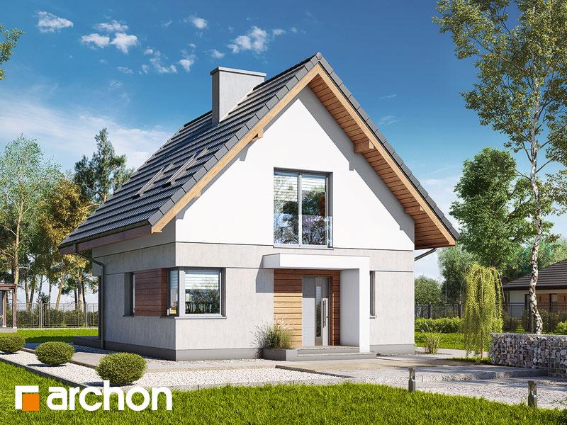 Проект дома ARCHON+ Дом на пригорке (Н) - Визуализация 1