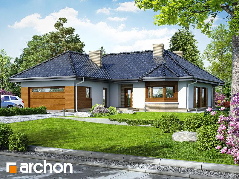 Проект дома ARCHON+ Дом в гардениях - Визуализация 1