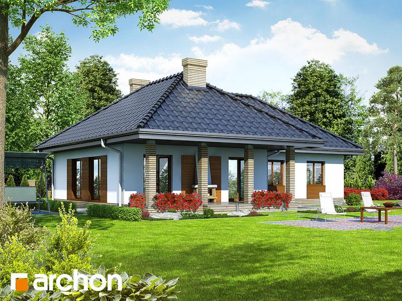 Проект дома ARCHON+ Дом в гардениях - Визуализация 2
