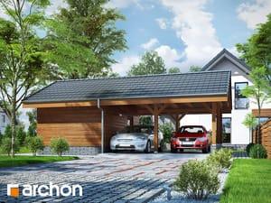 Проект дома ARCHON+ Гаражный навес (B3)