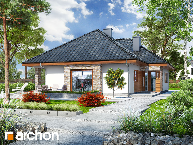Проект дома ARCHON+ Дом в ламбертах - Визуализация 1