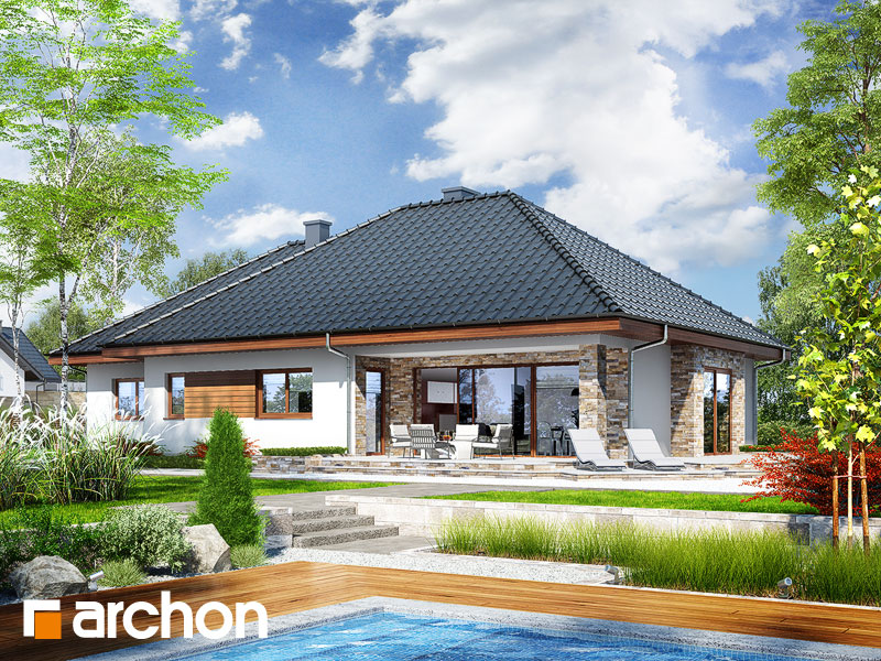 Проект дома ARCHON+ Дом в ламбертах - Визуализация 2