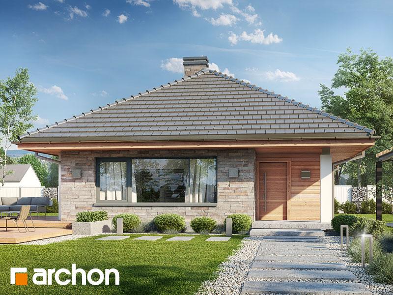 Проект дома ARCHON+ Дом в сирени (СМ) - Визуализация 1