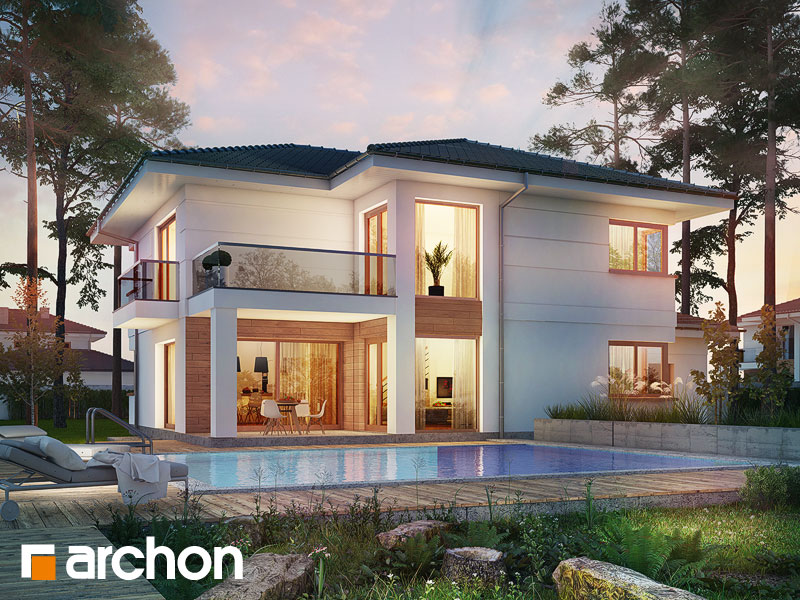 Проект дома ARCHON+ Вилла Оливия 3 (Г2П) - Визуализация 1