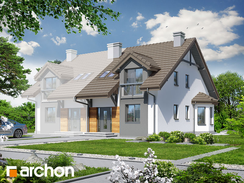 Проект дома ARCHON+ Дом в дельфиниуме 2 ver.2 - Визуализация 1