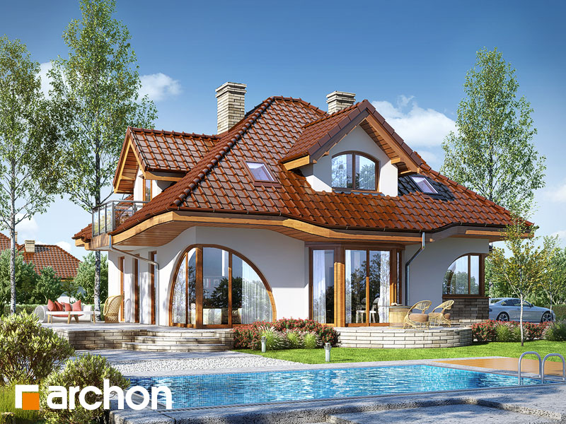 Проект дома ARCHON+ Дом в зефирантесе 2 (Г2) - Визуализация 2
