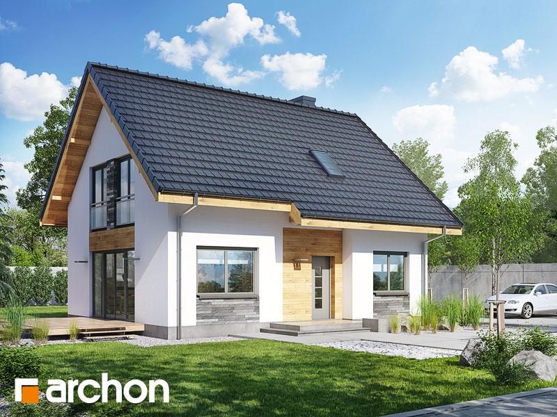 Проект дома ARCHON+ Дом в хлорофитуме 3 (T) - Визуализация 1
