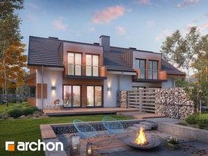 Проект дома ARCHON+ Дом в клематисах 8 ver.3