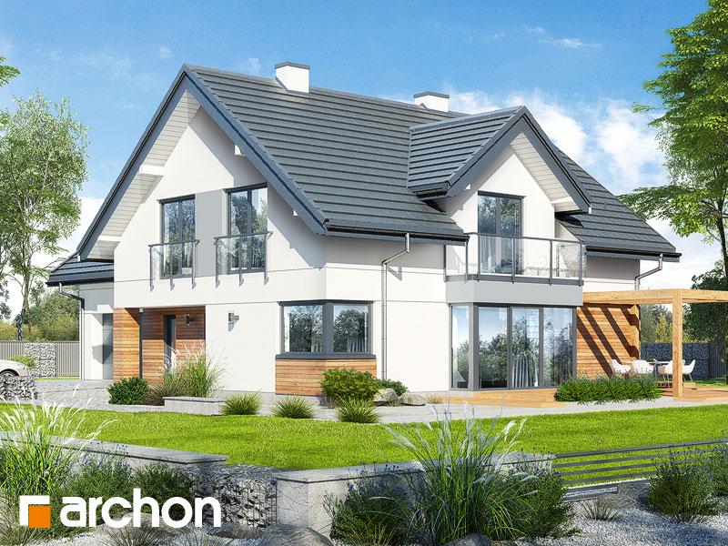 Проект дома ARCHON+ Дом в гортензиях 2 (Г2) - Визуализация 1