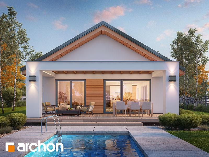 Проект дома ARCHON+ Дом под апельсином (СМ) - Визуализация 1