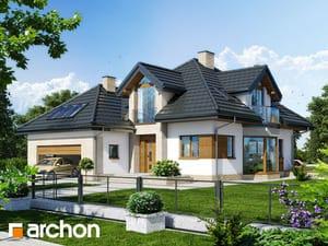 Проект дома ARCHON+ Дом под каркасом (H) ver.2