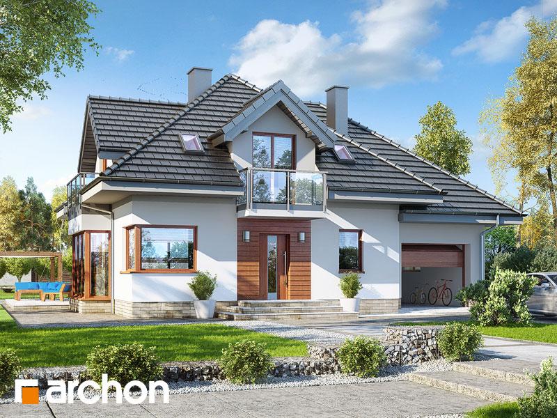 Проект дома ARCHON+ Дом в нектаринах (H) - Визуализация 1