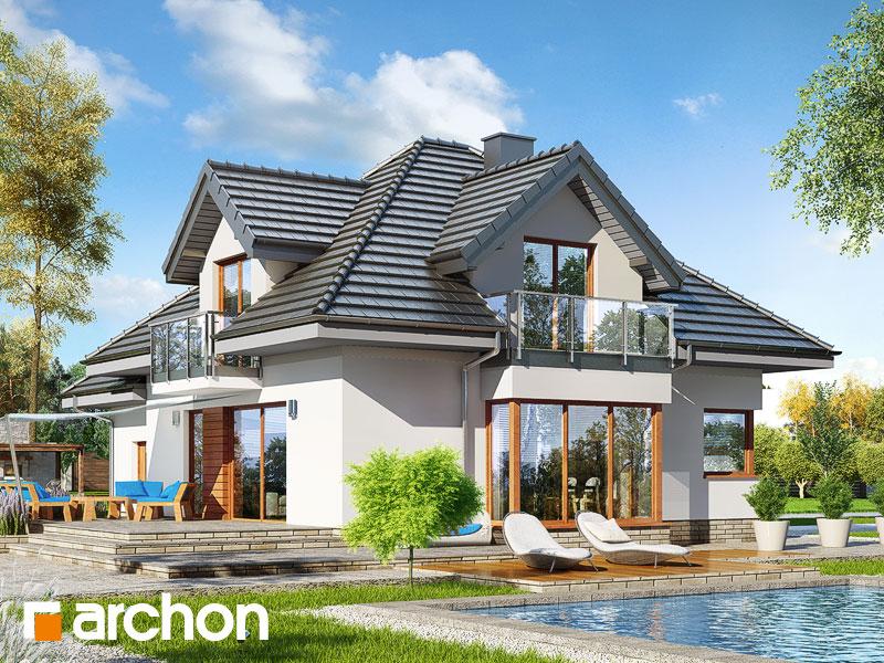 Проект дома ARCHON+ Дом в нектаринах (H) - Визуализация 2