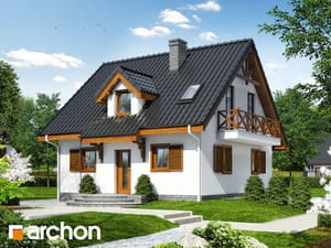 Проект дома ARCHON+ Дом в землянике 3 (П) ver.2