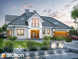 Проект дома ARCHON+  Дом в сливах (Г2)
