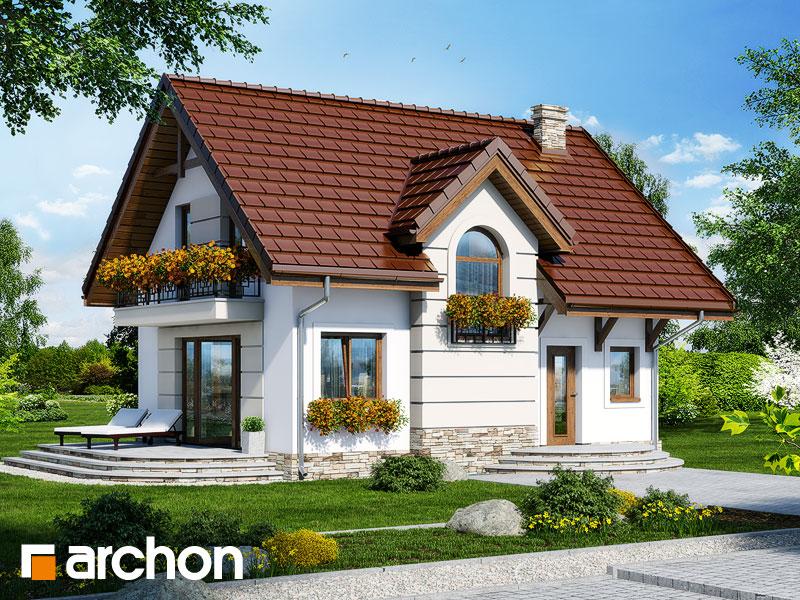 Проект дома ARCHON+ Дом в солодках 4 ver.2 - Визуализация 1