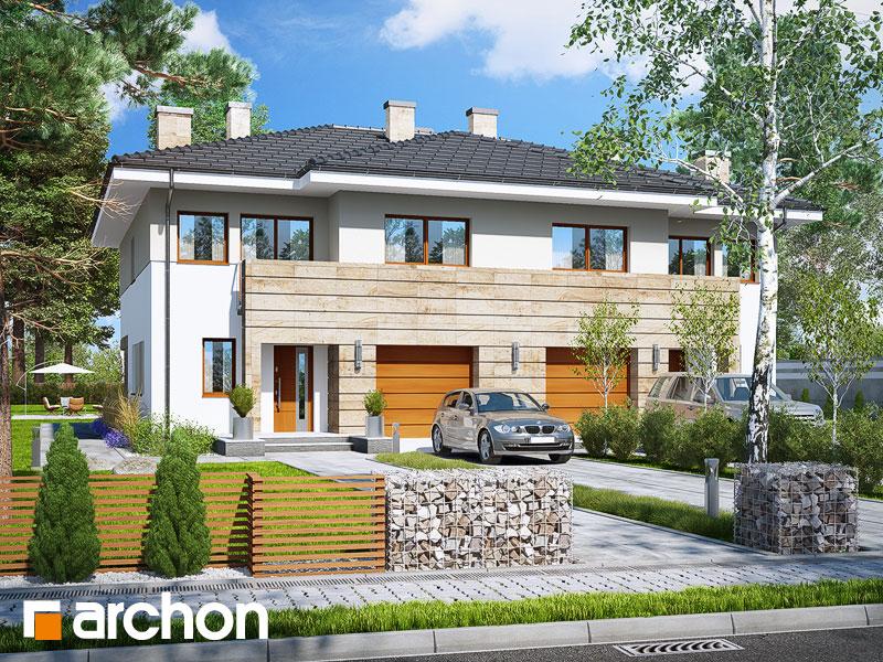 Проект дома ARCHON+ Вилла Юлия 4 - Визуализация 1