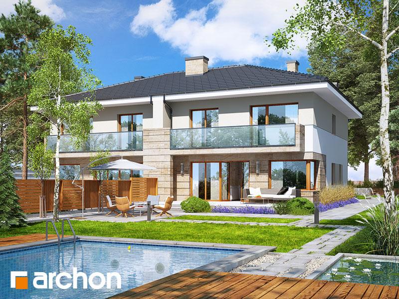 Проект дома ARCHON+ Вилла Юлия 4 - Визуализация 2