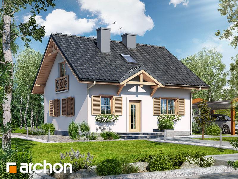 Проект дома ARCHON+ Дом миниатюрка (Т) - Визуализация 1