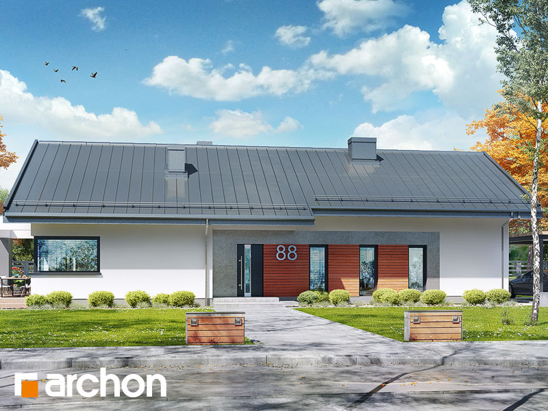 Проект дома ARCHON+ Дом в пеперомиях 4 - Визуализация 2