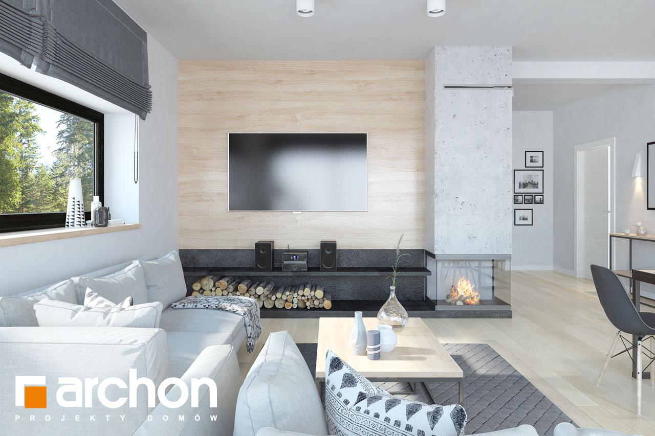 Проект дома ARCHON+ Дом в пеперомиях 4 - Интерьеры