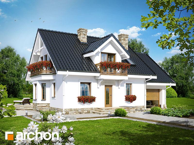 Проект дома ARCHON+ Дом в рододендронах 6 (П) - Визуализация 1